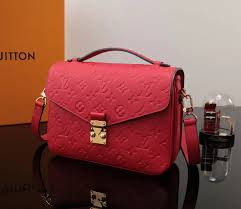 3a lv leather bag louis vuitton monogram handbag pochette metis red m41488 shoulder
