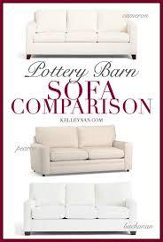 pottery barn sofa comparison cameron
