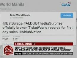 ticket sales records eat bulaga sa tamang panahon record breaking sa ticket sales