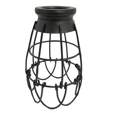 portfolio 7 25 in h 4 62 in w french bronze wire industrial cage pendant light