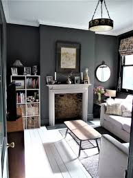 snug tv room dark grey walls see blog
