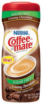 coffee mate creamy chocolate sugar free powder 10 2 oz plastic bottle