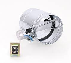 air conditioning damper. suncourt 6-in diameter normally closed electronic air duct damper conditioning n