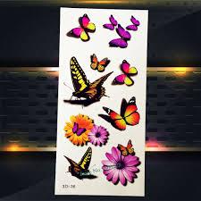 1ks Motýl Květina Henna Vyměnitelné Flash Tetování ženy Dívka Make