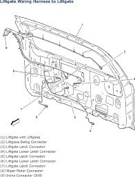 repair guides wiring systems 2006 harness routing views liftgate wiring harness to liftgate 2006