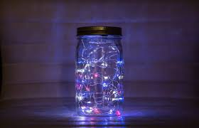 lighting jar. Solder Together A Fairy Lights Mason Jar Lighting 4