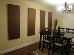 diy dining room wall decor. Dining Room Designs With DIY Kitchen Wall Brown Particle Board Panels Art Diy Decor