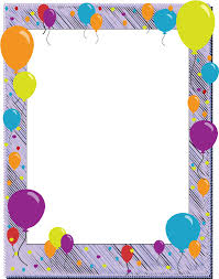 birthday balloons border clip art. Exellent Birthday Birthday Border Round Clipart 1 Inside Balloons Clip Art N