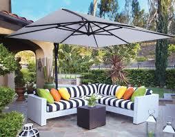 Outdoor Decorations 10 Square Cantilever Umbrella Patio Table