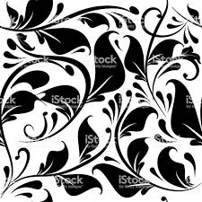 ヴィンテージの黒と白の花柄シームレスなパターンをベクトルします