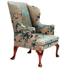 george i upholstered wingback armchair