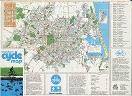 christchurch cycle map 1983 christchurch city libraries Map Of Christchurch christchurch cycle map map of christchurch new zealand