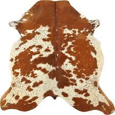 cowhide rug brown white 195 x 170 cm
