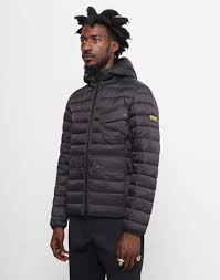 Barbour International Ouston Hooded Quilted Jacket Black at The ... & Barbour International Ouston Hooded Quilted Jacket Black Adamdwight.com
