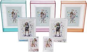 photo frame pink sparkle polaroid size