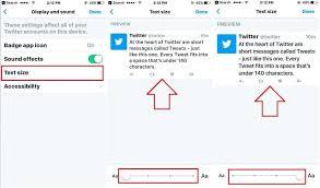 how to change text size how to change text size on twitter app iphone ipad
