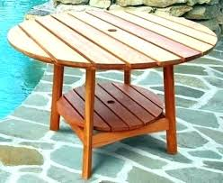 round wooden outdoor table eucalyptus wood outdoor furniture