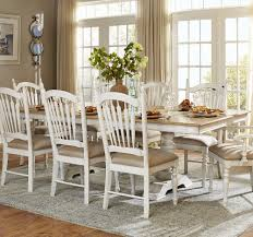 White Distressed Kitchen Table Homelegance 5123 96 Hollyhock Distressed White Oak Trestle