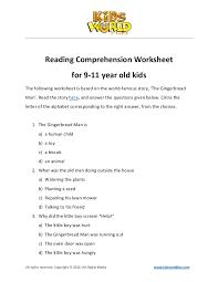 Reading comprehension-worksheet-for-9-11-years-old-kids