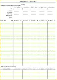 Exercise Program Templates Exercise Template Exercise Log Templates Free Word Excel