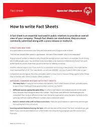 14+ Fact Sheet Templates And Examples - Pdf