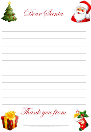 Letter From Santa Template Cyberuse