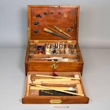 9852 a large early 19th century mahogany artist s paint box gerald mathias