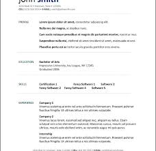 Resume Templates For Openoffice Free Awesome Resume Templates For Open Office Exceptional Resume Templates