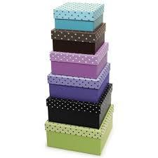 Decorative Cardboard Storage Boxes With Lids Amazon Xonex Simply Desk Nesting Boxes Set Of 60 Nested 29