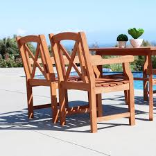 5 piece outdoor dining set. Malibu Wood 5-piece Outdoor Dining Set 5 Piece