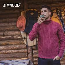 SIMWOOD 2019 <b>Autumn Winter</b> New Sweater men striped mix wool ...