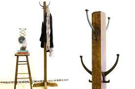 Wood Coat Racks Cool Decoration White Wooden Coat Rack