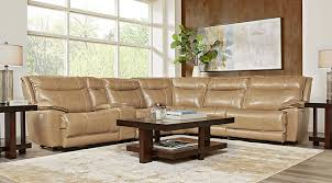 beige furniture. canyon ranch beige 6 pc leather power plus reclining sectional furniture m