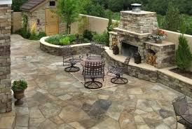 flagstone landscaping. Perfect Landscaping Flagstone Patio Fireplace Accent Landscapes Colorado Springs CO On Flagstone Landscaping