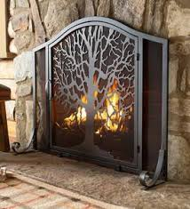 Unique fireplace screens Guard Exclusive Tree Of Life Fire Screen With Door Plow Hearth All Fireplace Screens Plowhearth