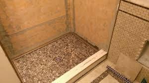 mosaic shower floor tile. Brown Mosaic Shower Floor Tile E