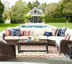 pottery barn all weather wicker roll arm wedge corner sectional set outdoor furniture ham reviews percent
