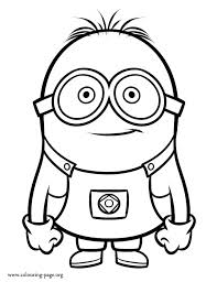 Small Picture Minions Coloring Page FunyColoring
