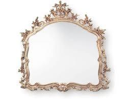 ornate gold leaf overmantle mirror