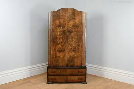 art deco figured walnut wardrobe circa 1930 antique art deco figured walnut wardrobe vintage