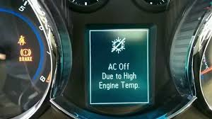 chevy cruze ac off due to high engine temp