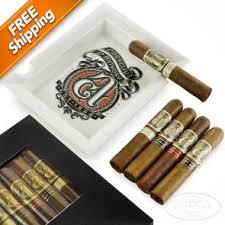 cornelius anthony 5 cigar and ashtray gift set