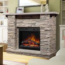 stacked stone electric fireplace best wall mounted electric fireplace