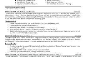 Executive Chef Resume Chef Resume Example Chef Sample Resume Resume