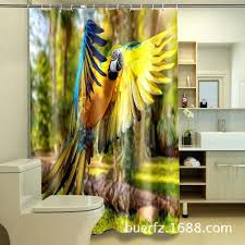 flying parrot printing shower curtain waterproof cool curtains for bathroom inch shower curtain waterproof fabric parrot