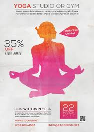 free photoshop wellness flyer freepsdflyer download the free yoga studio flyer template for