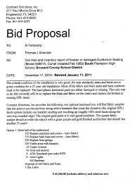 Proposal Bid Sample Bid Proposal Template onepiece 1