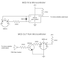 midi code circuits construction midi communication