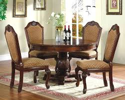 classic dining room chairs. 5pc Dining Room Set With Round Table In Classic Cherry MCFD5006 1 Chairs