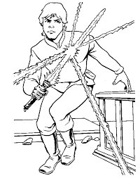 Small Picture Luke Skywalker coloring page